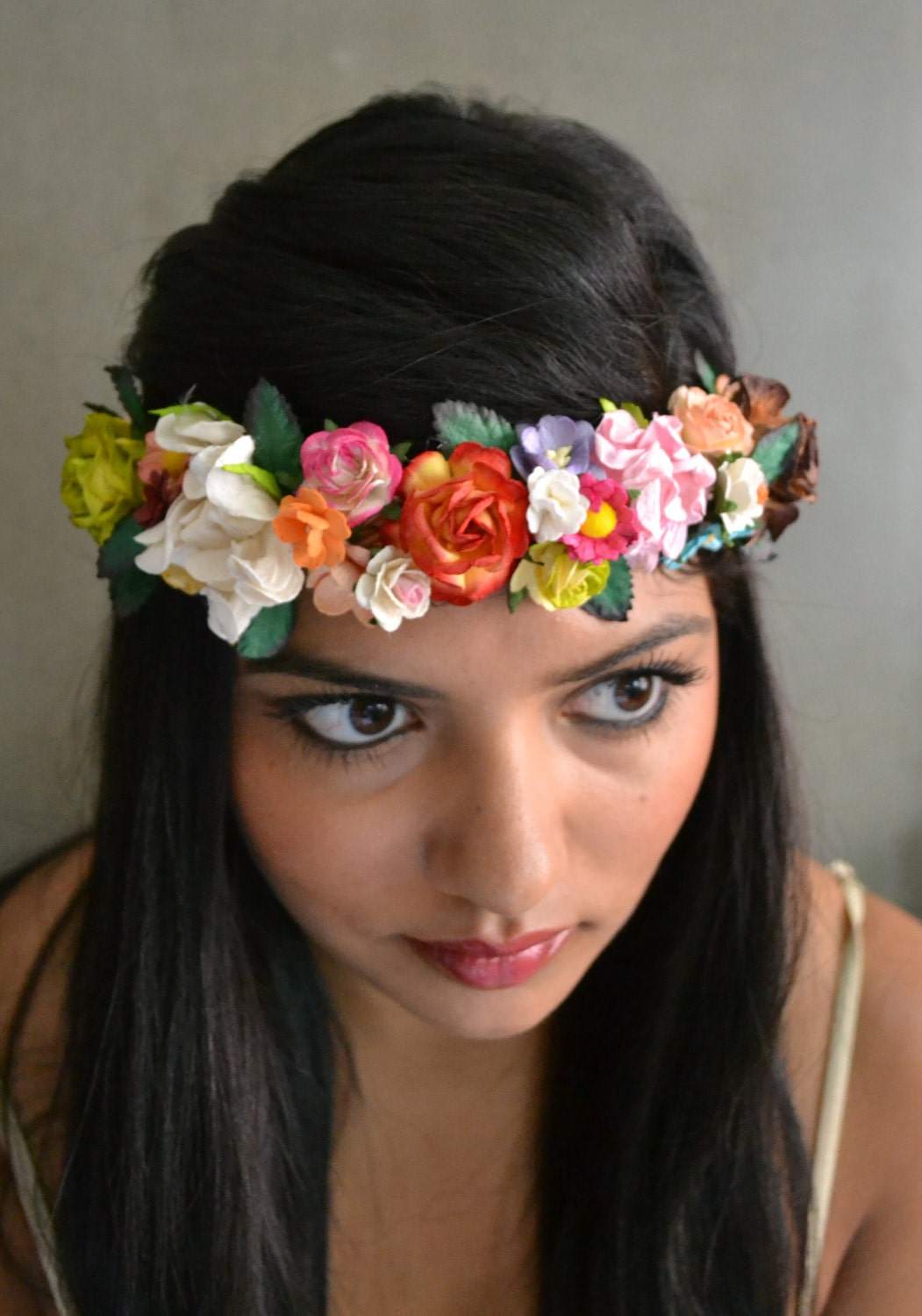 whimsical fairy flower crown headband