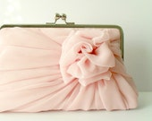 10 Chiffon Rose Clutches - Large - MADE TO ORDER