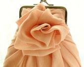 Peach Rose Purse - Size Small