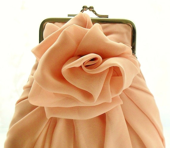 Peach Rose Purse - Size Small