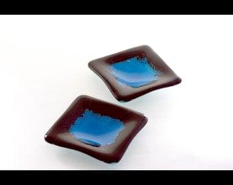 Square Turquoise Sushi Dish