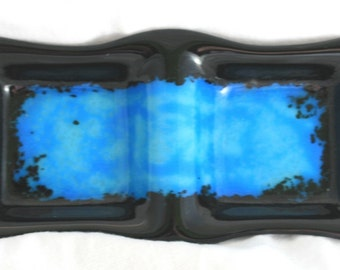 Black and Blue Two Sectional Dish