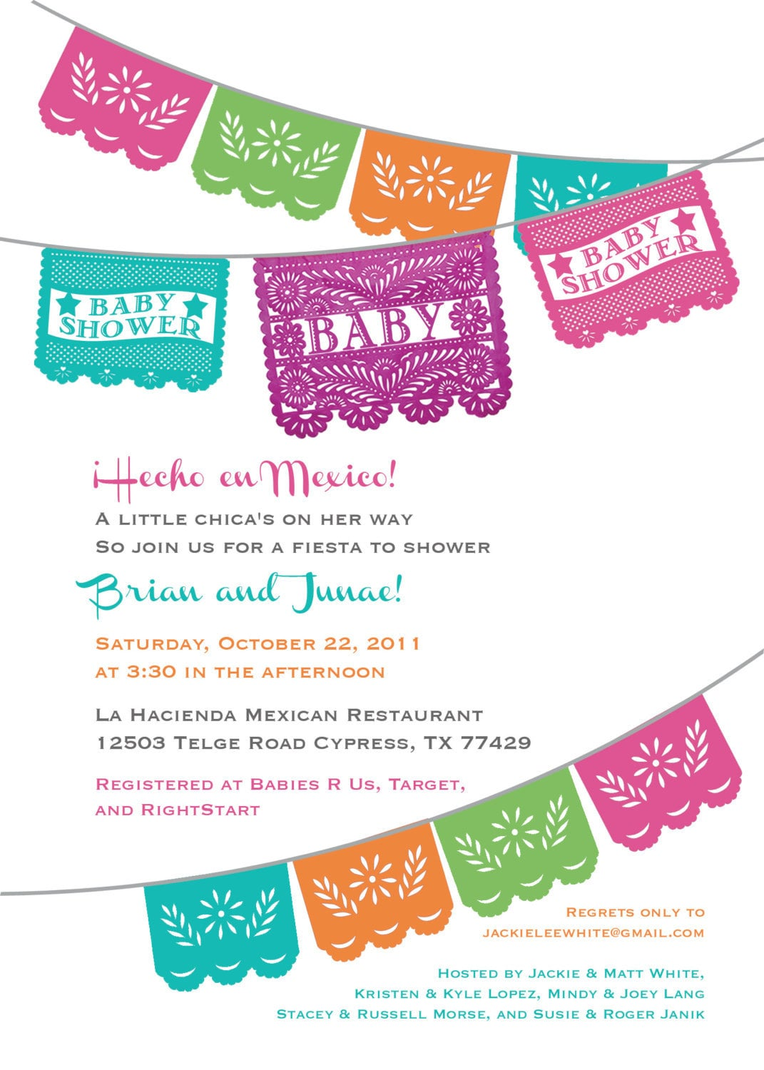 Mexican Baby Shower Invitations is beautiful invitations sample