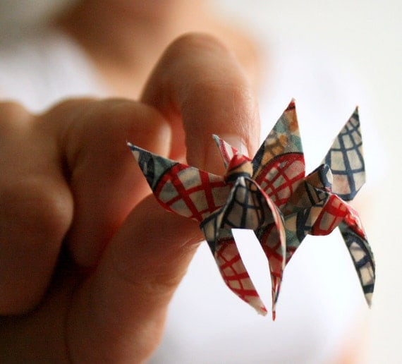 Beautiful Butterflies - LUCKY DIP Upcycled / Recycled Cotton Origami Butterfly Brooch