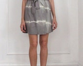 Vain and Vapid Silk Tie Dye Lightening Wrap Dress Grey Custom Size