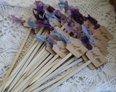 Eat Me Skewers, veggies, candy, meat, fruit- great for weddings, parties and more---SET OF 12, choice of ribbon colors