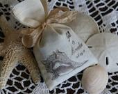 TROPICAL WEDDING FAVOR -  Bridal Shower Favor - Lavender or Tea filled sachet - French, Rustic, Wonderland, Woodland, Beach, Vintage