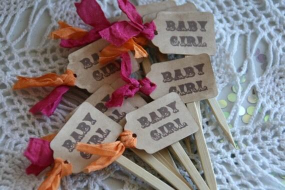 BABY SHOWER Cupcake Topper - baby boy - baby girl - baby shower - new baby