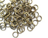 100pc antique brass jump rings 4mm / 21ga open jump rings / high quality lead-free, nickel-free hypoallergenic findings
