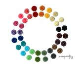 38pc set cutest daisy resin flower cabochon, 10mm, perfect for making earrings, hairpins, rings