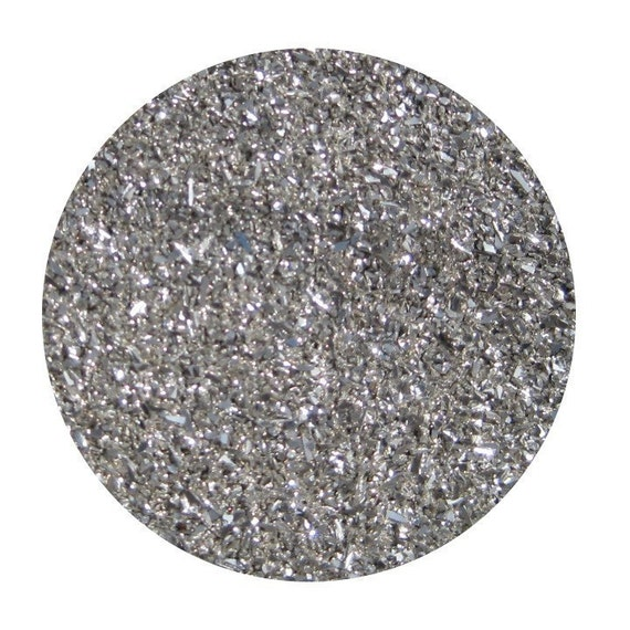sparkle silver premium imported german glass glitter, 1/2 ounce 90 grit