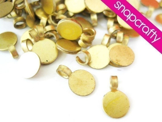 12pc -5mm- brass bail with loop