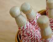 bakers twine-red and white (25 yds)