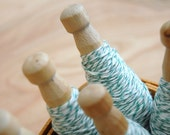 bakers twine-green and white (25 yds)