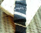 Beadwoven Metallic Matte Wavy Bracelet with Swarovski crystals
