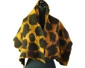 Giraffe pattern nuno felted scarf