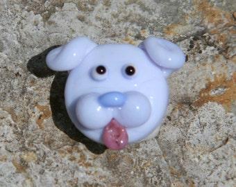 Purple Puppy Focal Handmade Lampwork SRA