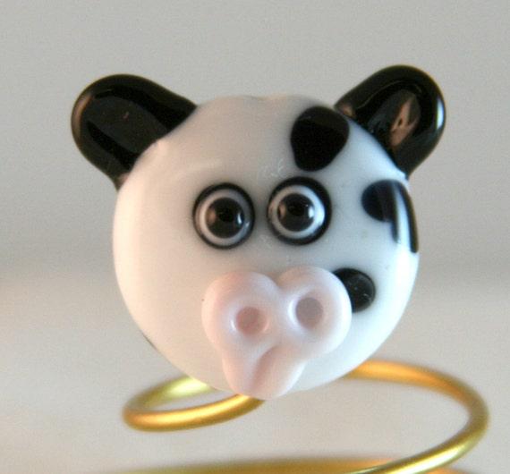 Holstein Cow Bead