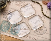 """200 1"""" in Puffy clear square glass tiles. 1 inch glass tiles for pendants. 1PGS"""