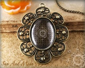Combo - Vintage Settings with GLASS Insert - 10 Pack - 22x30mm Antiqued Bronze Steampunk Cabochon Setting Pendant Trays Blanks - 22VS1