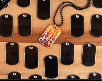 50 Mini Dog Tags for our Epoxy Resin Glaze Drops for DogTag-Epoxy Small Dog Tag Resin Stickers Mini Steel Tags