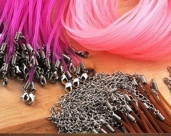 14 Rubber Necklace Cords - Sample One of each color