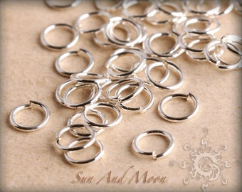 100 pcs of Silver Plated Jumprings - 4mm Jump Rings