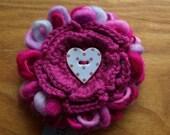 Fleur- Loopy Wool Flower Brooch
