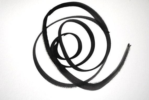 graphic watercolor in black