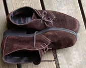Vintage SUEDE AEROSOLE SHOES, chocolate, desert boot, ankle booties