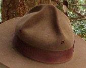 Awesome National PARK RANGER HAT, Smokey the Bear, Ozette Wa, Olympic Coast, Vintage