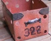 Sale...was 30, now 24..Antique GYM LOCKER BASKET, Numbers, Vintage Retro Cool, organizer, storage box