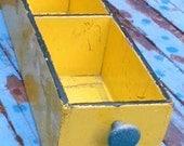 Vintage SHABBY PLANTER BOX, Organizer, cubby, chippy chic, garden display, storage, ooak