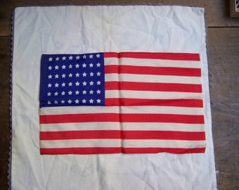 CUTE VINTAGE FLAG...48 STAR...SMALL, CHILD SIZE...MID 1900 S