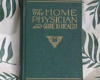Off  1940 Vintage HOME PHYSICIAN BOOK, Guide to Health, Color Graphics, 900 pages