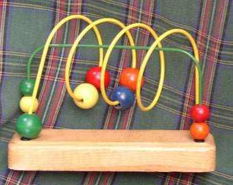 Vintage WOODEN TOY, Childs Play, Display, retro fun