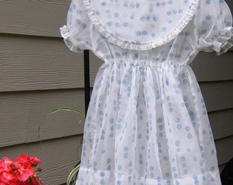 Sweetest LIL GIRLS DRESS, Vintage, homemade, mid-century, hand sewn