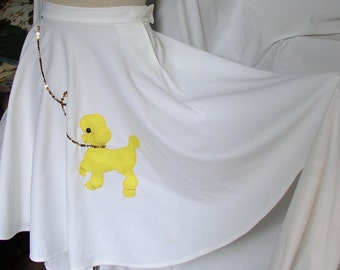 Vintage POODLE SKIRT, retro, costume, swing skirt, sequins, home made, fun and funky, poly
