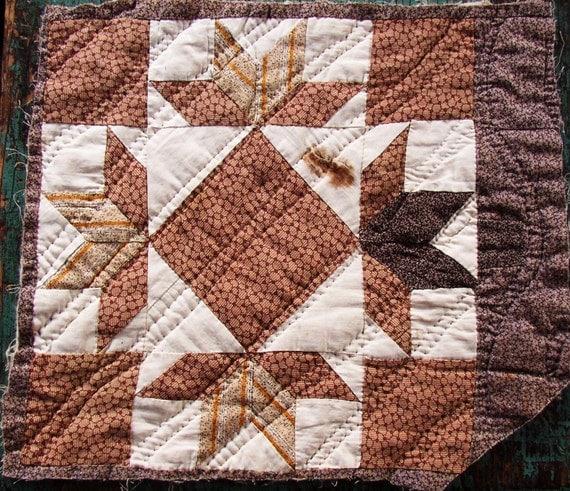 Vintage Quilt Block Browns Late 1800 S Great Fabrics