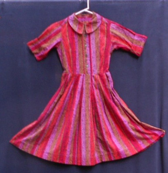 1960 s SHIRT DRESS, Awesome COLOR, Mary Sachs, full skirt, cotton classic