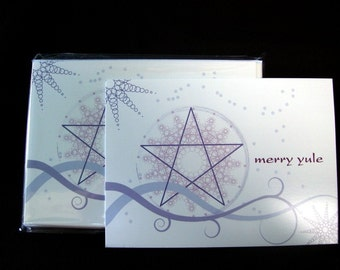 Pentagram Yule Cards Set of 13