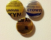 """Condom Wrapper Magnets - Set of 3 (1.25"""")"""