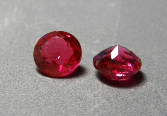 Vintage Czech Rose Pink Round 11.2mm (48ss) Faceted Clear Glass Stones (4)
