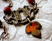 SALE - Warming Up The Cold - Autumn Hues Necklace