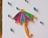 Under my Umbrella Card - Unique Greeting Card - Encouragement- Friendship