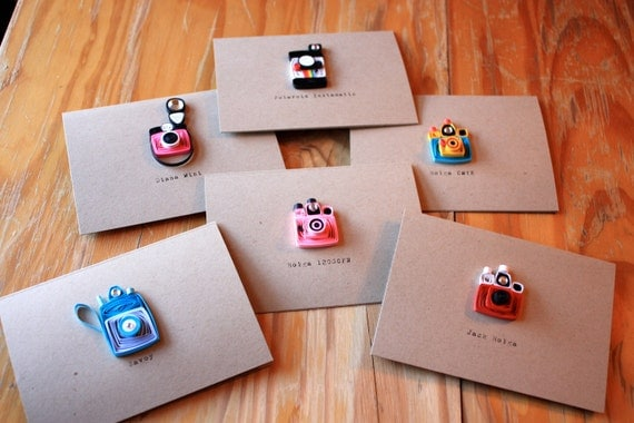Custom Listing for gulley17 - Vintage Camera Cards - Set of 6 - Unique Greeting Cards - Photography