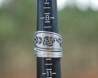 blackened rose ring any size