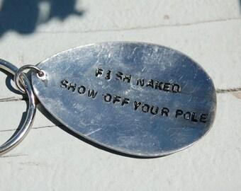 fish naked key ring