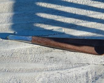 wood and metal shawl pin