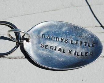 daddys little serial killer key ring